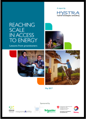 Reaching Scale in Access to Energy