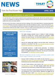 Inclusive Business in Sanitation - News from the Practioner Hub - April 2016
