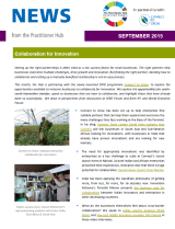 The Practitioner Hub September 2015 - Collaboration for Innovation